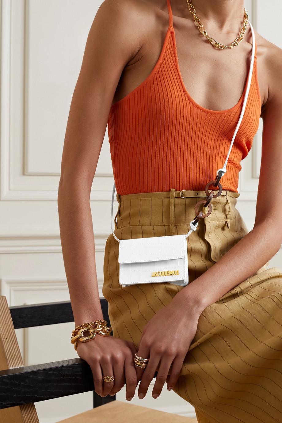 Jacquemus Le Riviera croc-effect leather shoulder bag