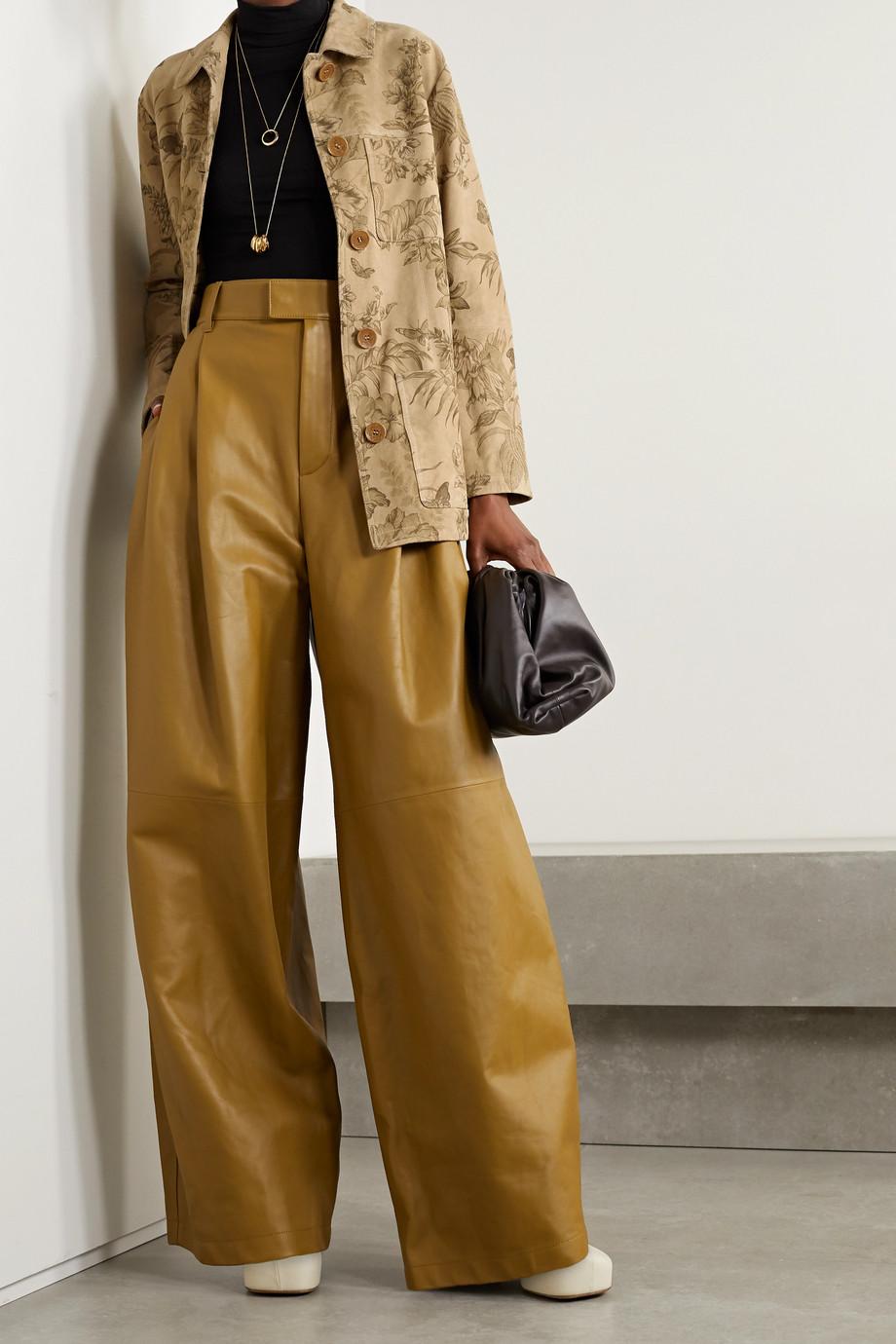 Etro Floral-print suede jacket