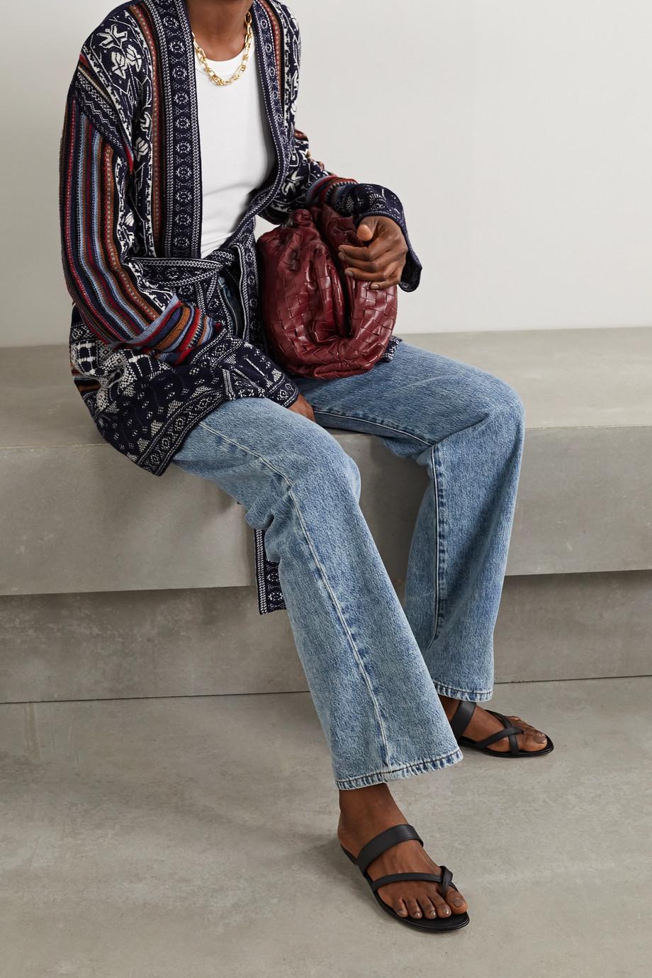 Etro Cardigan aus Jacquard-Strick aus einer Wollmischung mit Gürtel