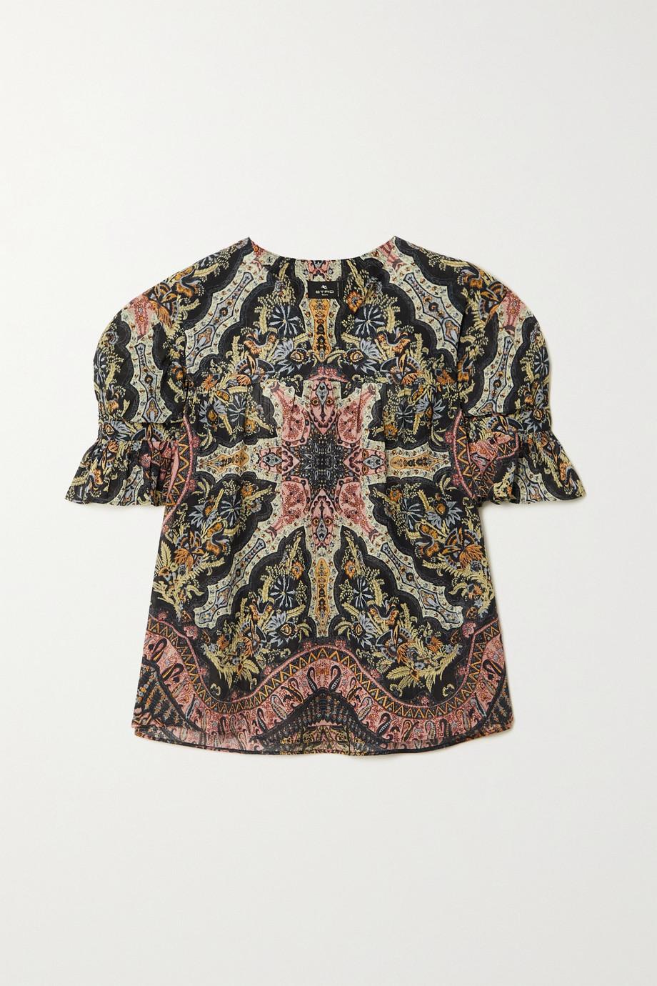 Etro Paisley-print cotton blouse