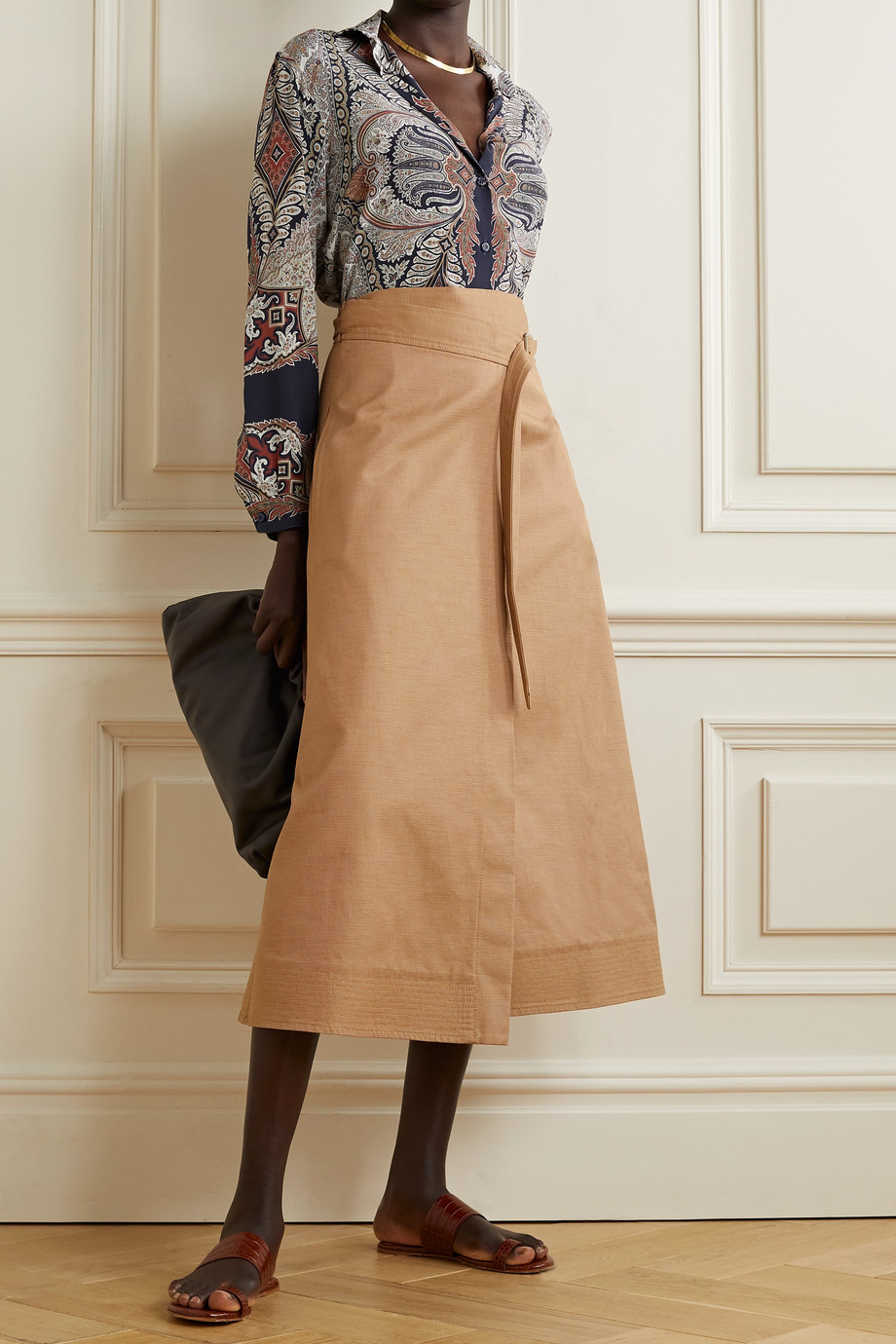 Etro Paisley-print silk-crepe shirt