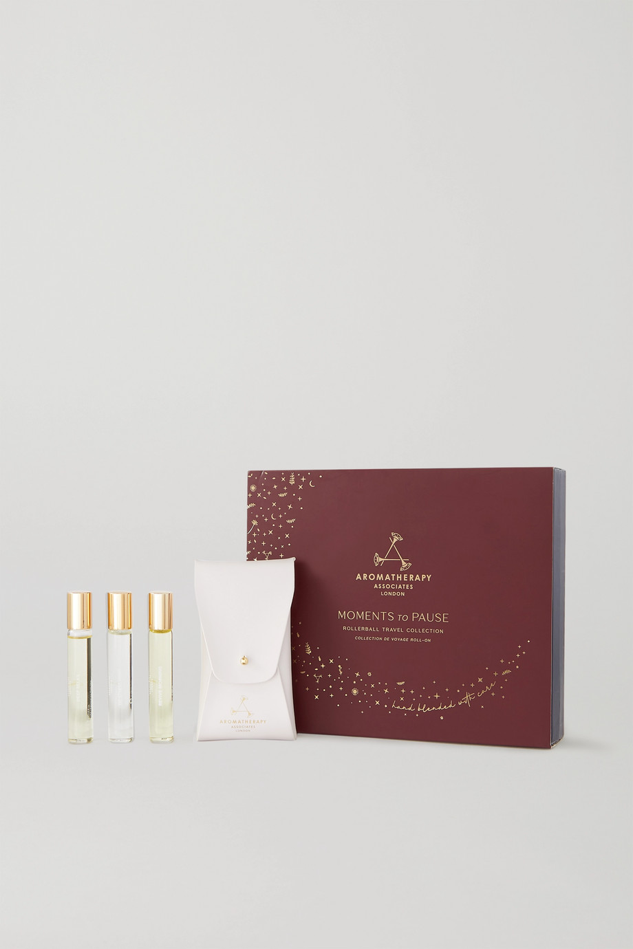 Aromatherapy Associates Moments to Pause Rollerball Travel Collection, 3 x 10 ml – Reiseset