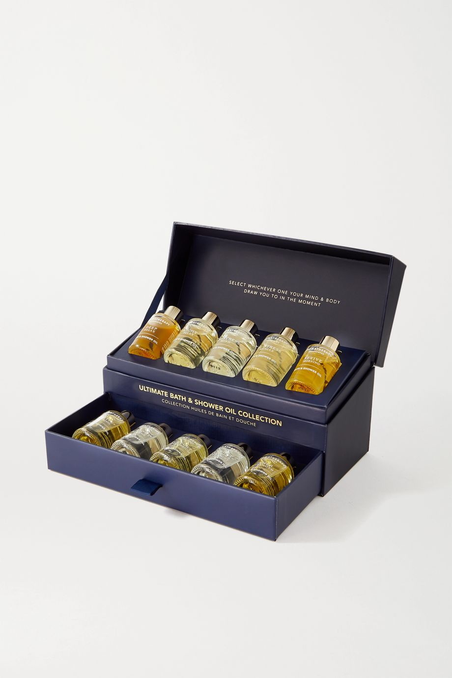 Aromatherapy Associates Ultimate Moments Bath & Shower Oil Collection, 10 x 9 ml – Badeset