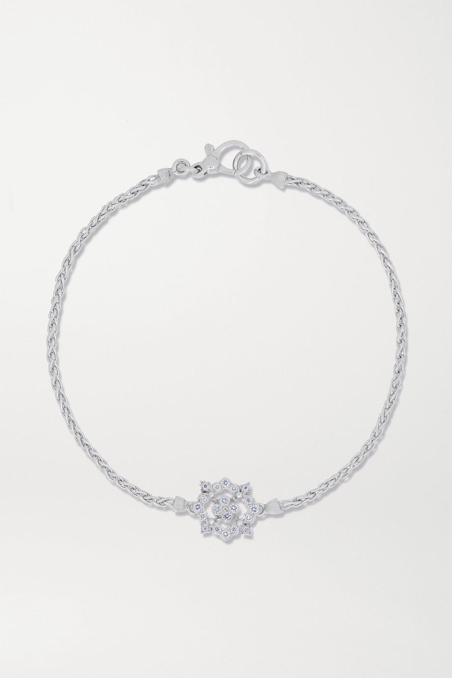 Buccellati Carlotta Armband aus 18 Karat Weißgold mit Diamanten