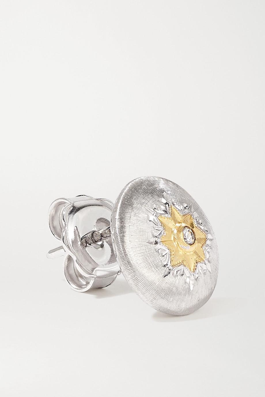 Buccellati Macri 18-karat white and yellow gold diamond earrings