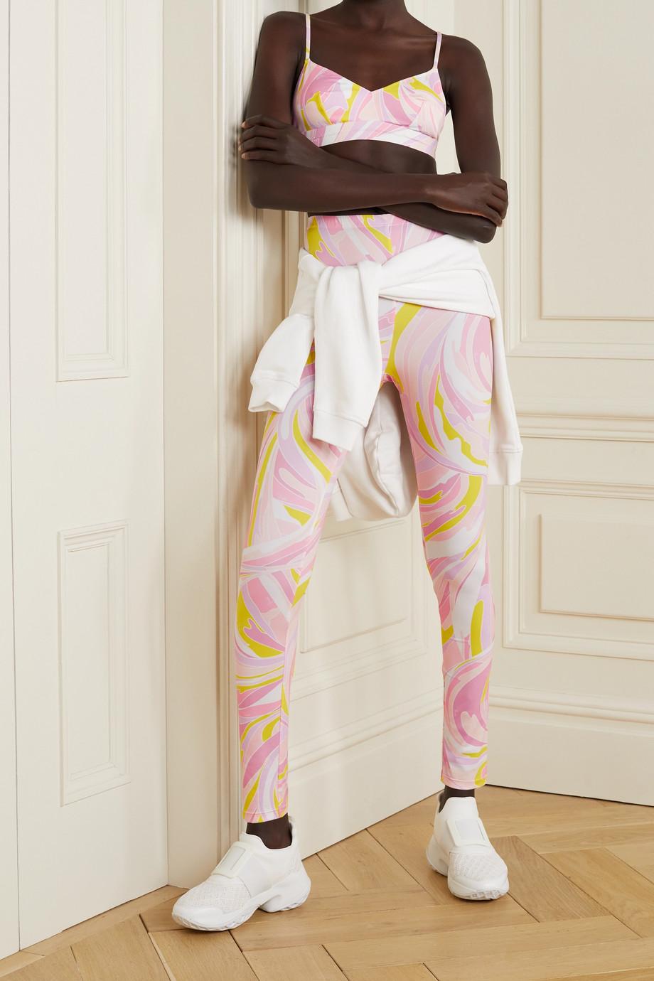 Emilio Pucci Printed stretch-ECONYL triangle sports bra
