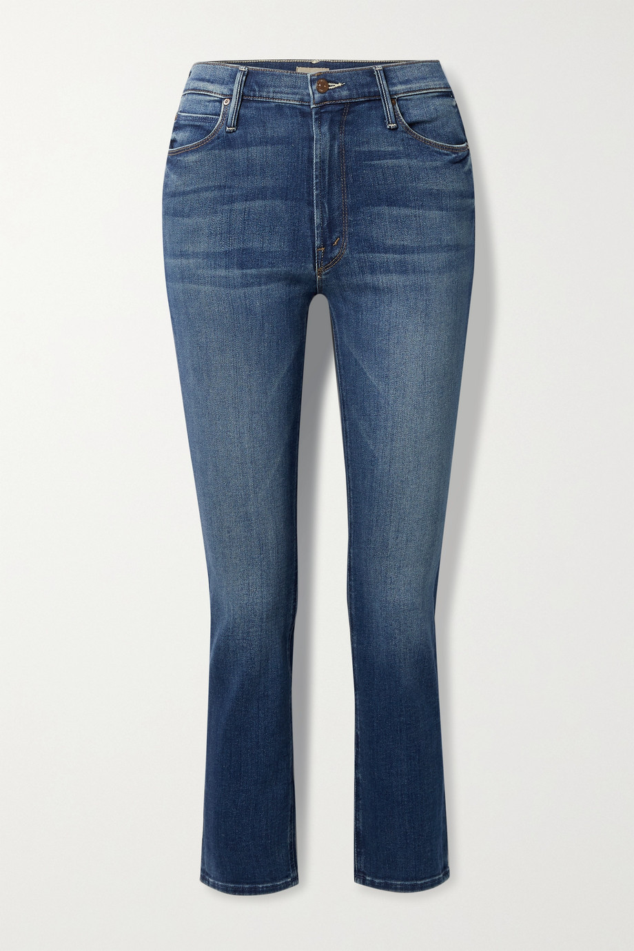 Mother The Dazzler high-rise straight-leg jeans