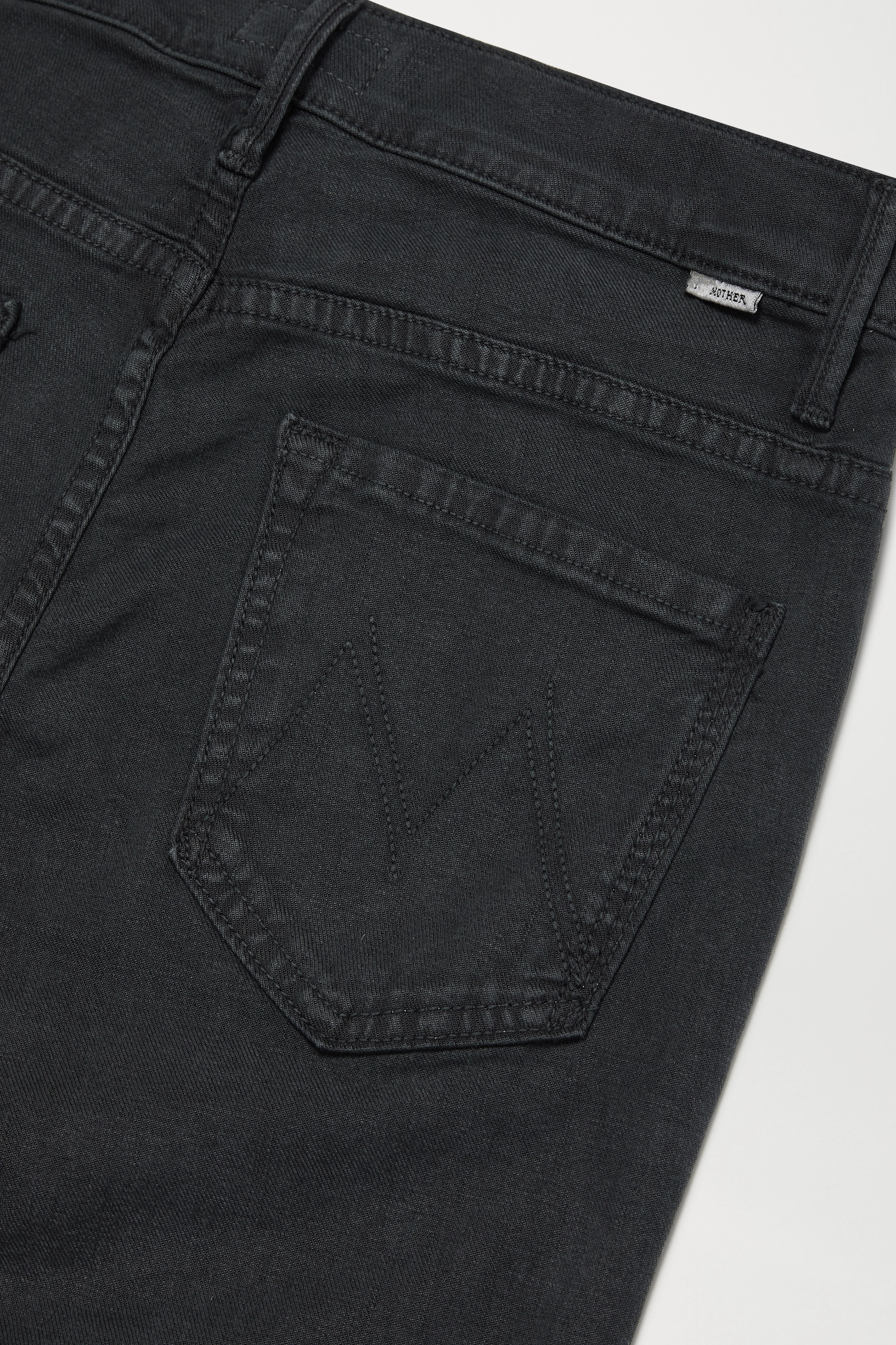MOTHER The Insider Crop frayed high-rise flared jeans