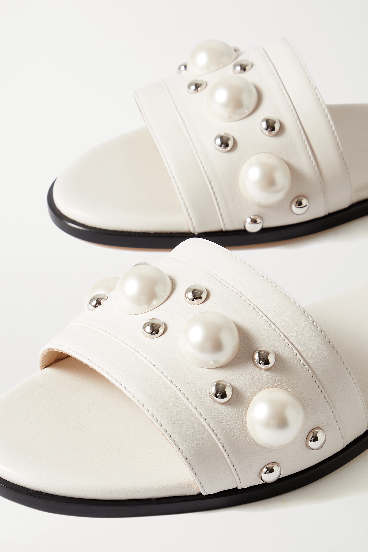 Jimmy Choo Minea embellished leather slides