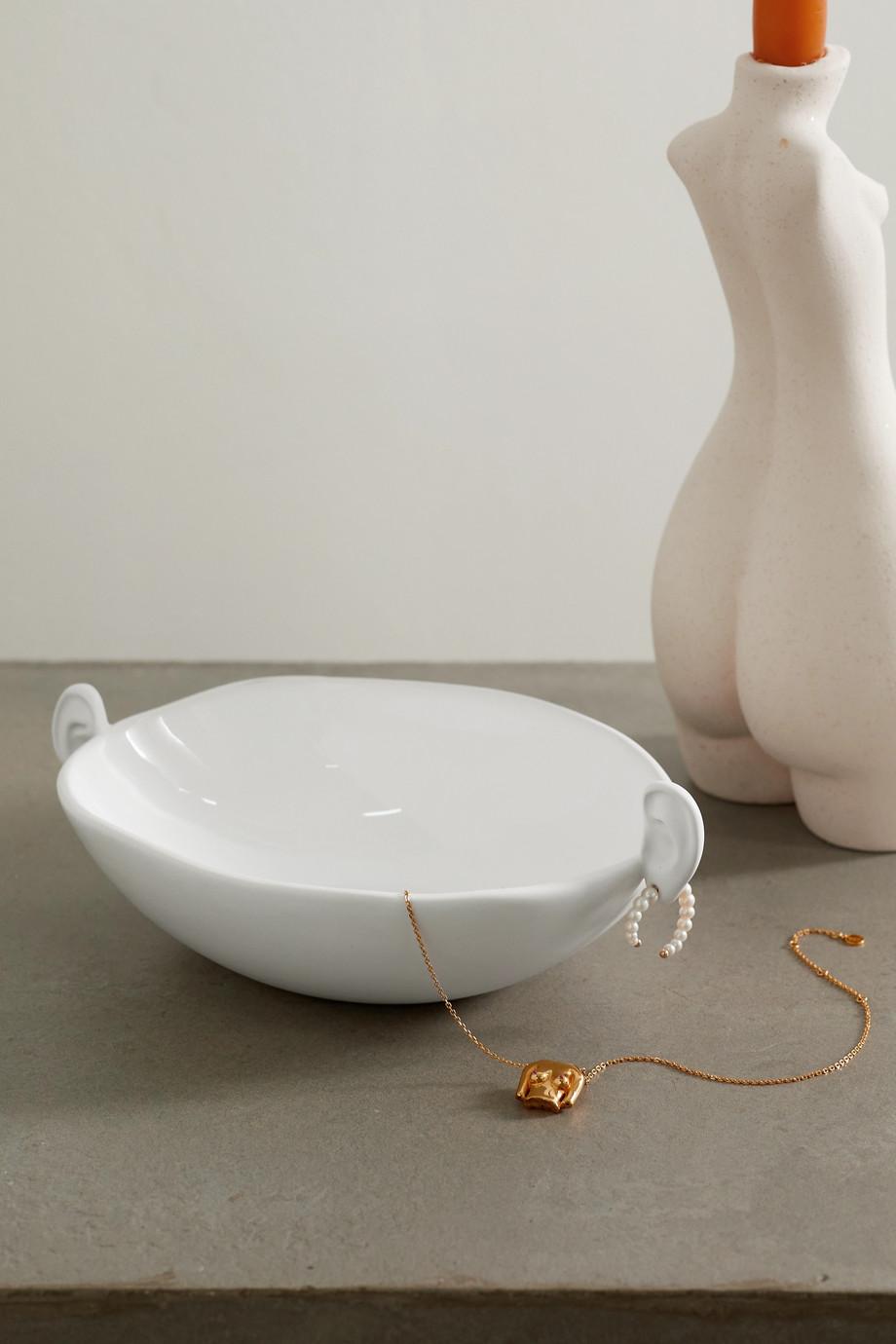Anissa Kermiche White Noise Ear mini ceramic bowl
