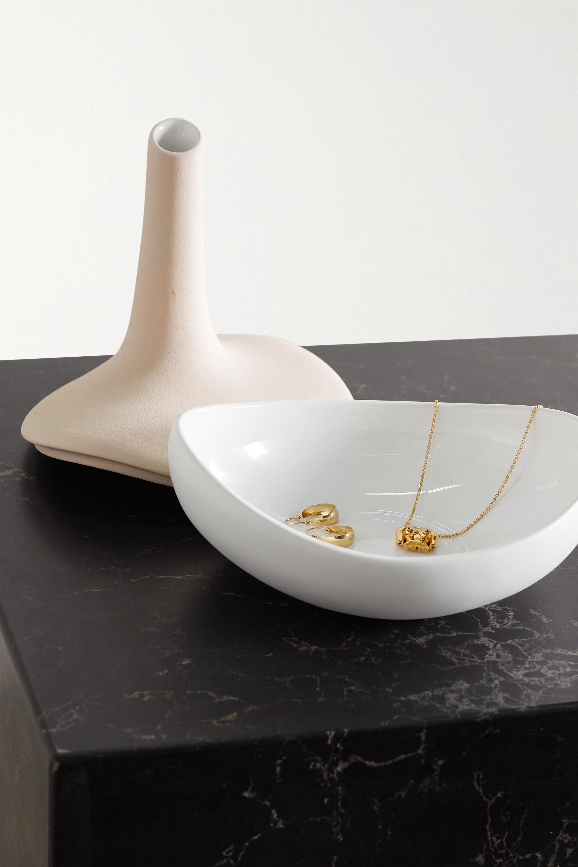 Anissa Kermiche Speckled ceramic jewelry box vase