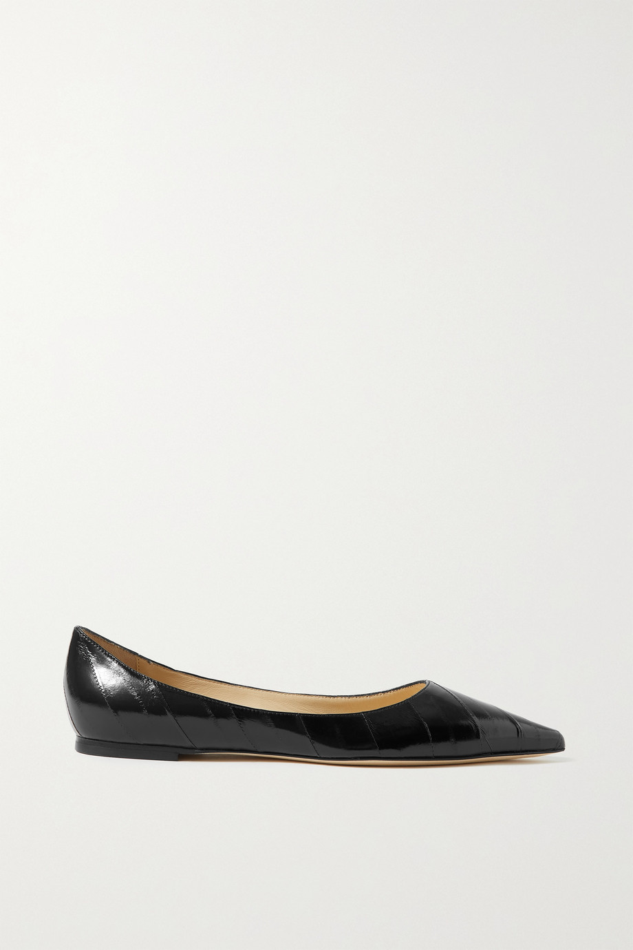 Jimmy Choo Love glossed-eel ballet flats