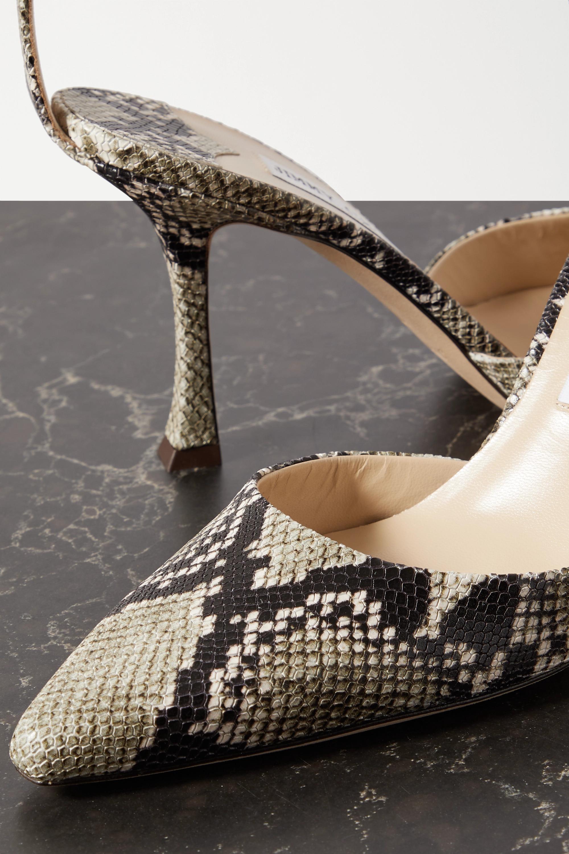 Jimmy Choo Mair 90 snake-effect leather pumps