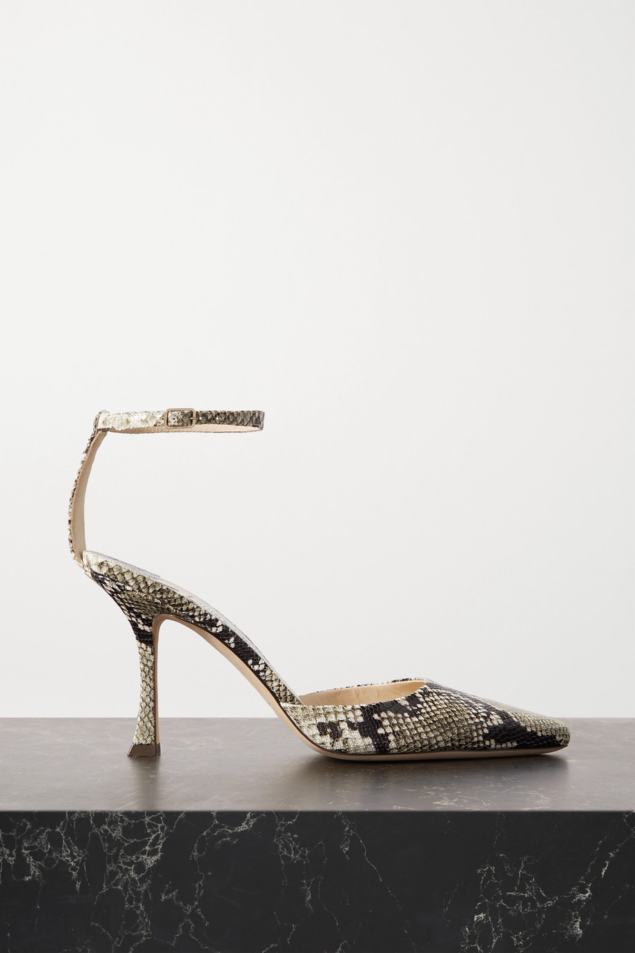 Jimmy Choo Mair 90 snake-effect leather pumps