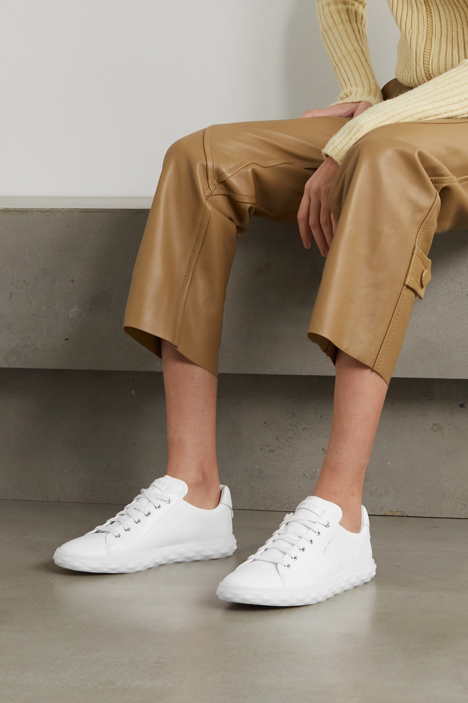 Jimmy Choo Diamond Light leather sneakers