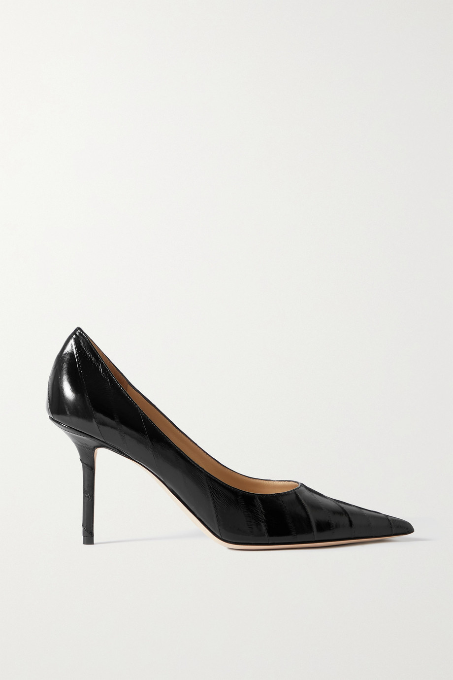Jimmy Choo Love 85 textured-eel pumps