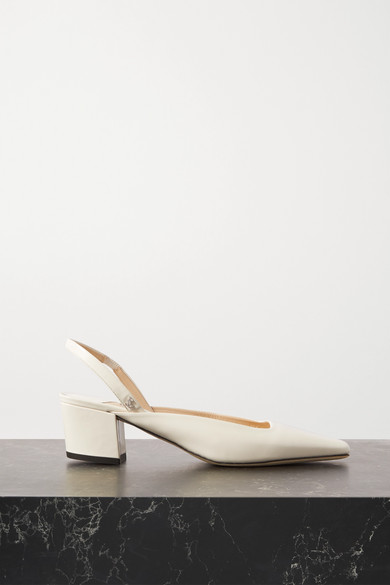 Jimmy Choo GINI 45 PATENT-LEATHER SLINGBACK PUMPS