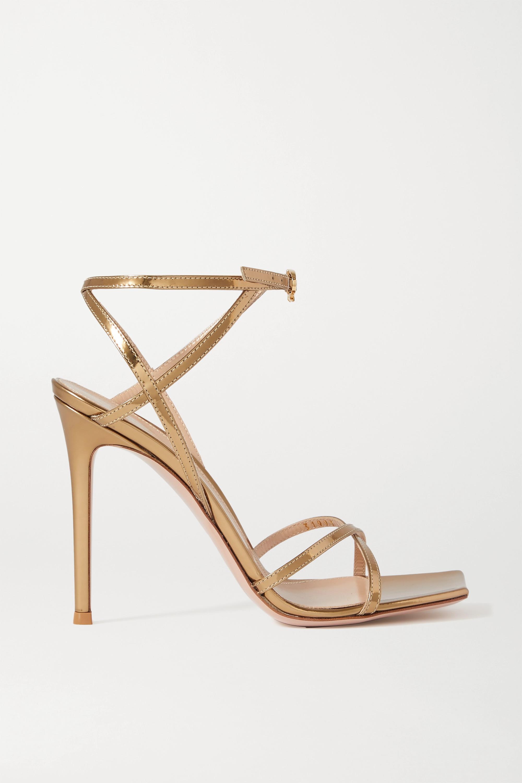 Gianvito Rossi Georgina 105 metallic leather sandals