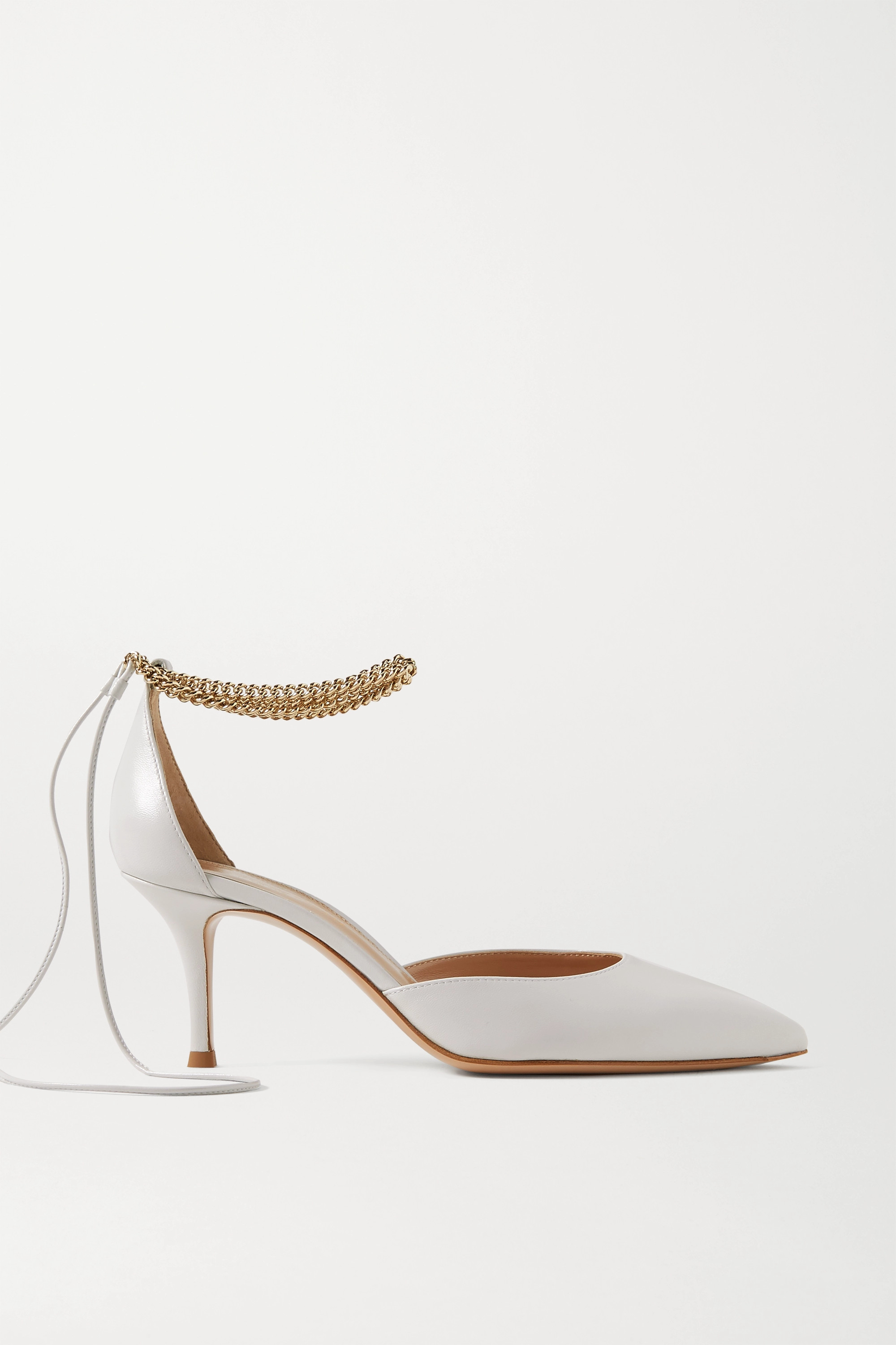 Gianvito Rossi Kira 70 chain-embellished leather pumps