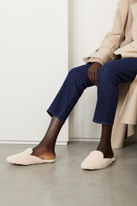 Aquazzura Relax shearling slippers