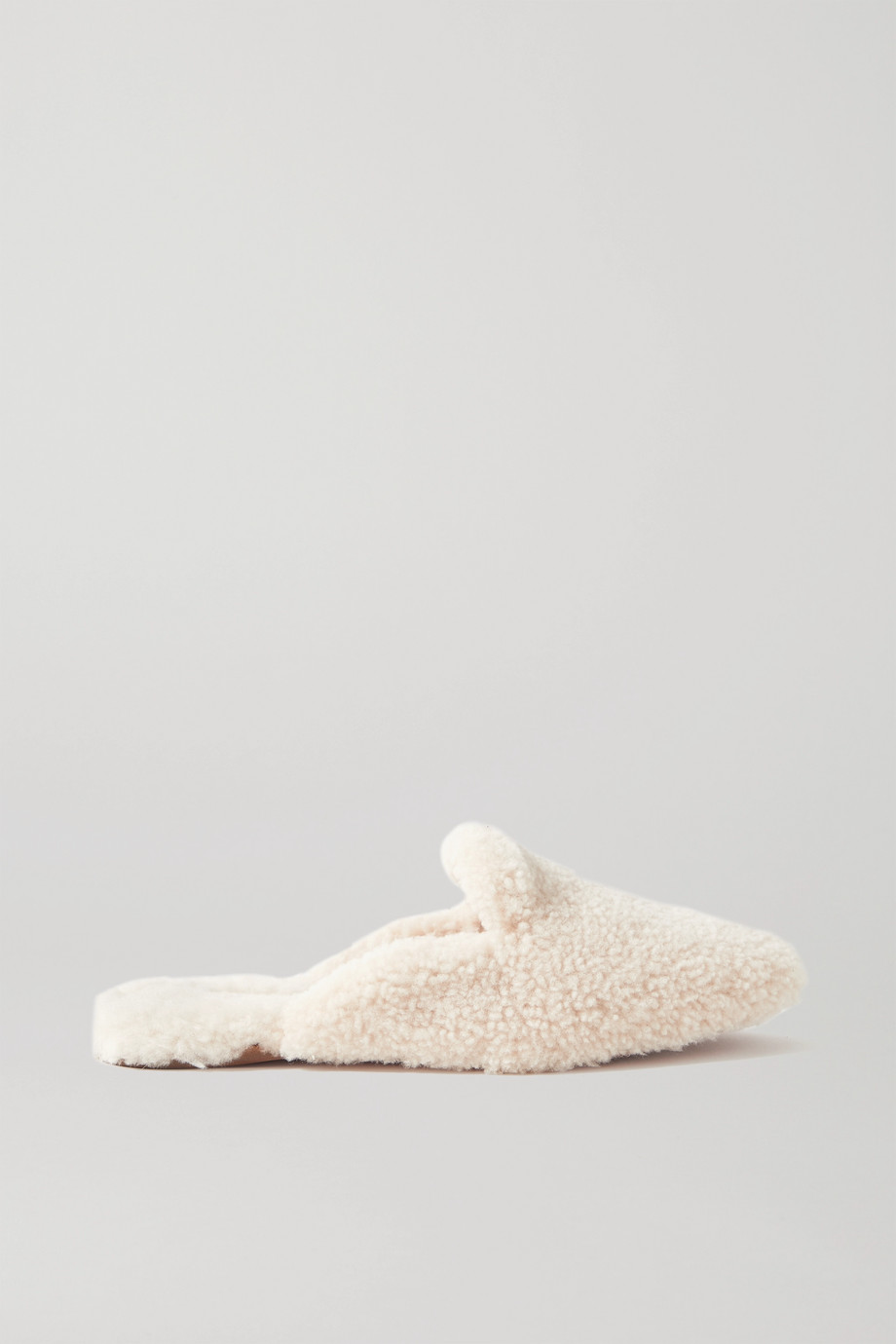 Aquazzura Relax shearling slippers