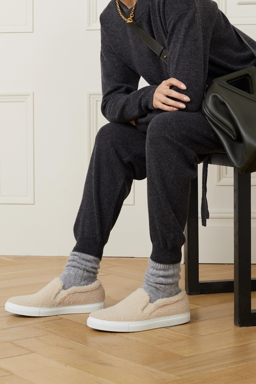 Aquazzura Relax shearling sneakers