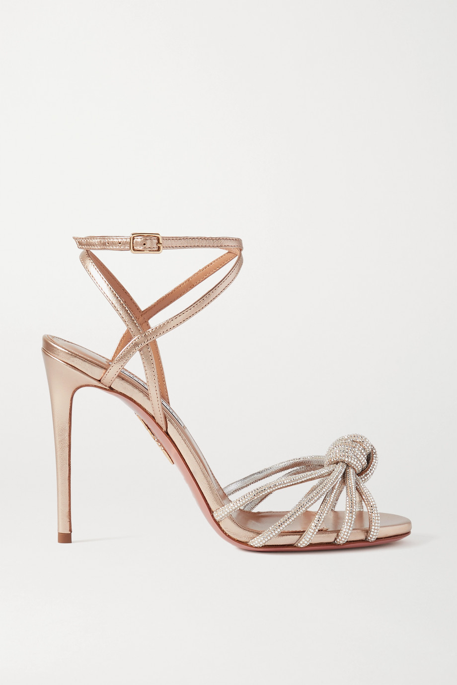 Aquazzura Celeste 105 crystal-embellished leather sandals
