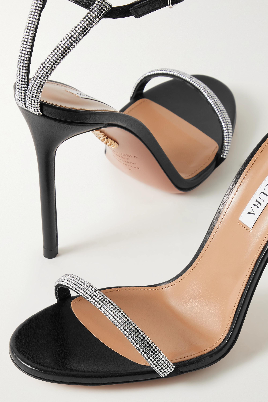 Aquazzura Moon 105 crystal-embellished leather sandals