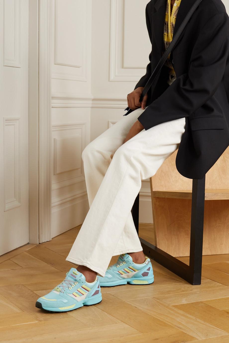 adidas Originals ZX 8000 Sneakers aus Veloursleder und Mesh