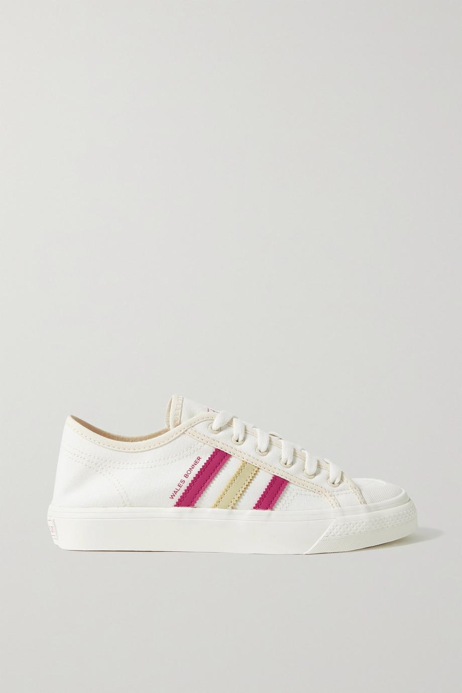 adidas Originals + Wales Bonner Nizza Sneakers aus Canvas mit Lederbesätzen