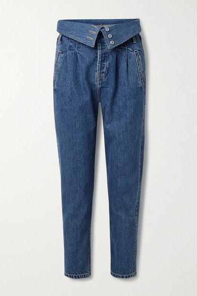 Re/done Denims 80S FOLD-OVER HIGH-RISE TAPERED JEANS