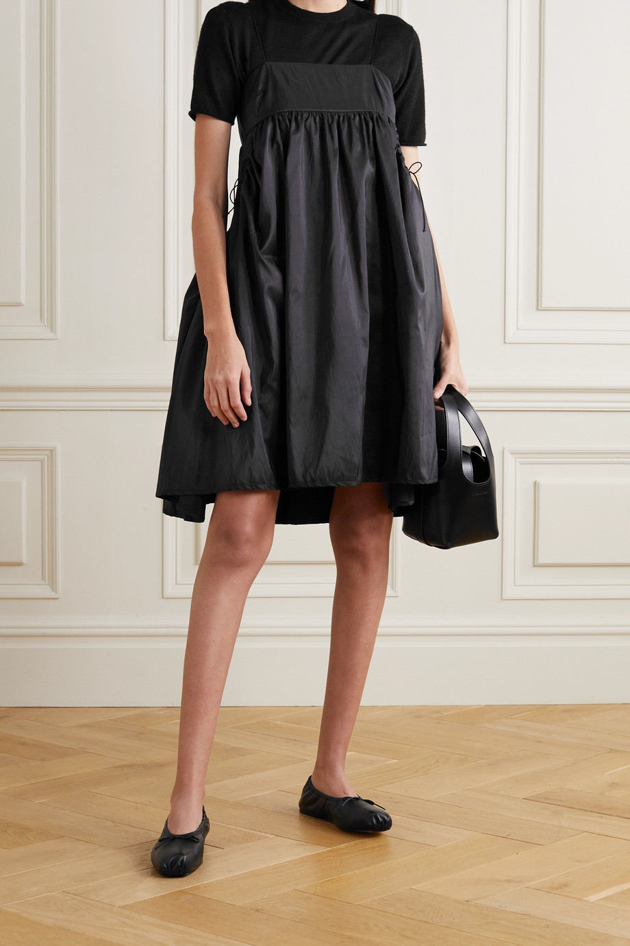 Cecilie Bahnsen Lisbeth gathered taffeta mini dress
