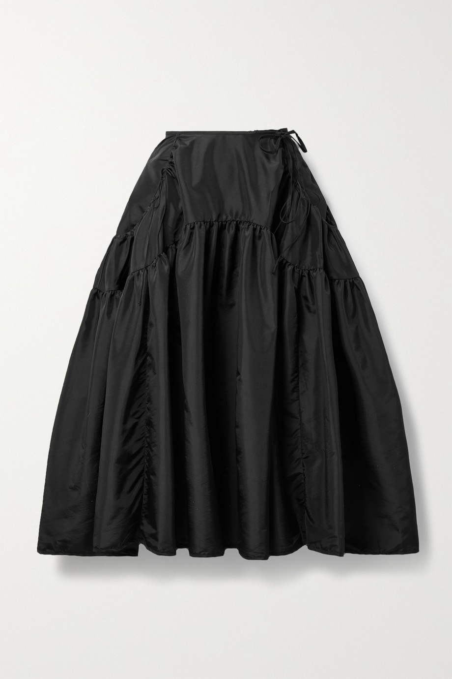 Cecilie Bahnsen Lilly gathered shell midi skirt