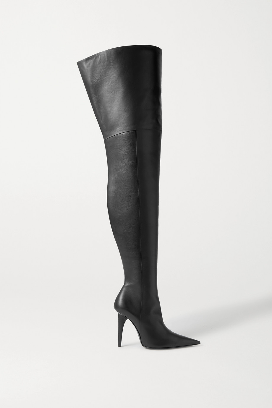 Balenciaga Knife Shark leather over-the-knee boots