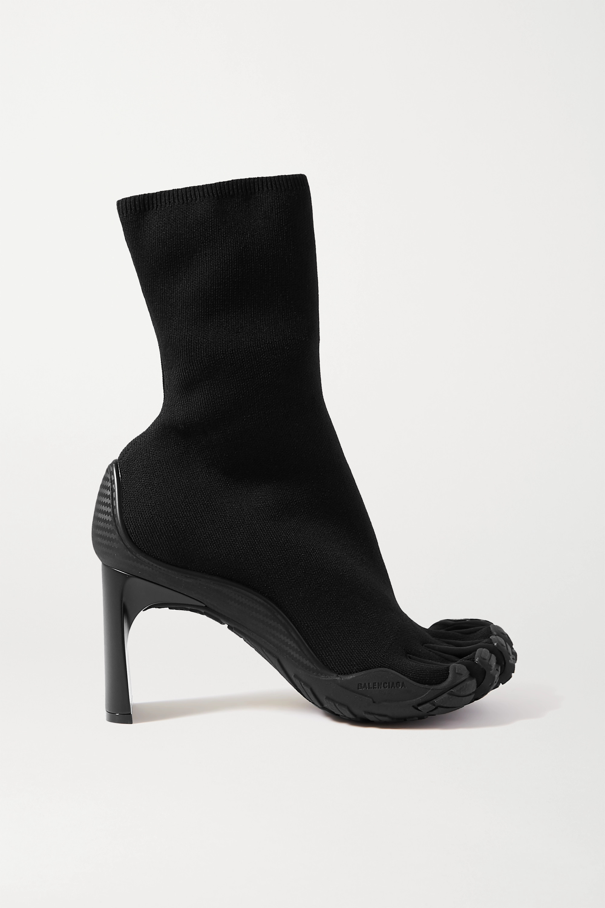 Balenciaga High Toe rubber-trimmed stretch-knit sock boots
