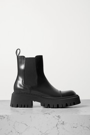 Balenciaga Tractor leather ankle boots