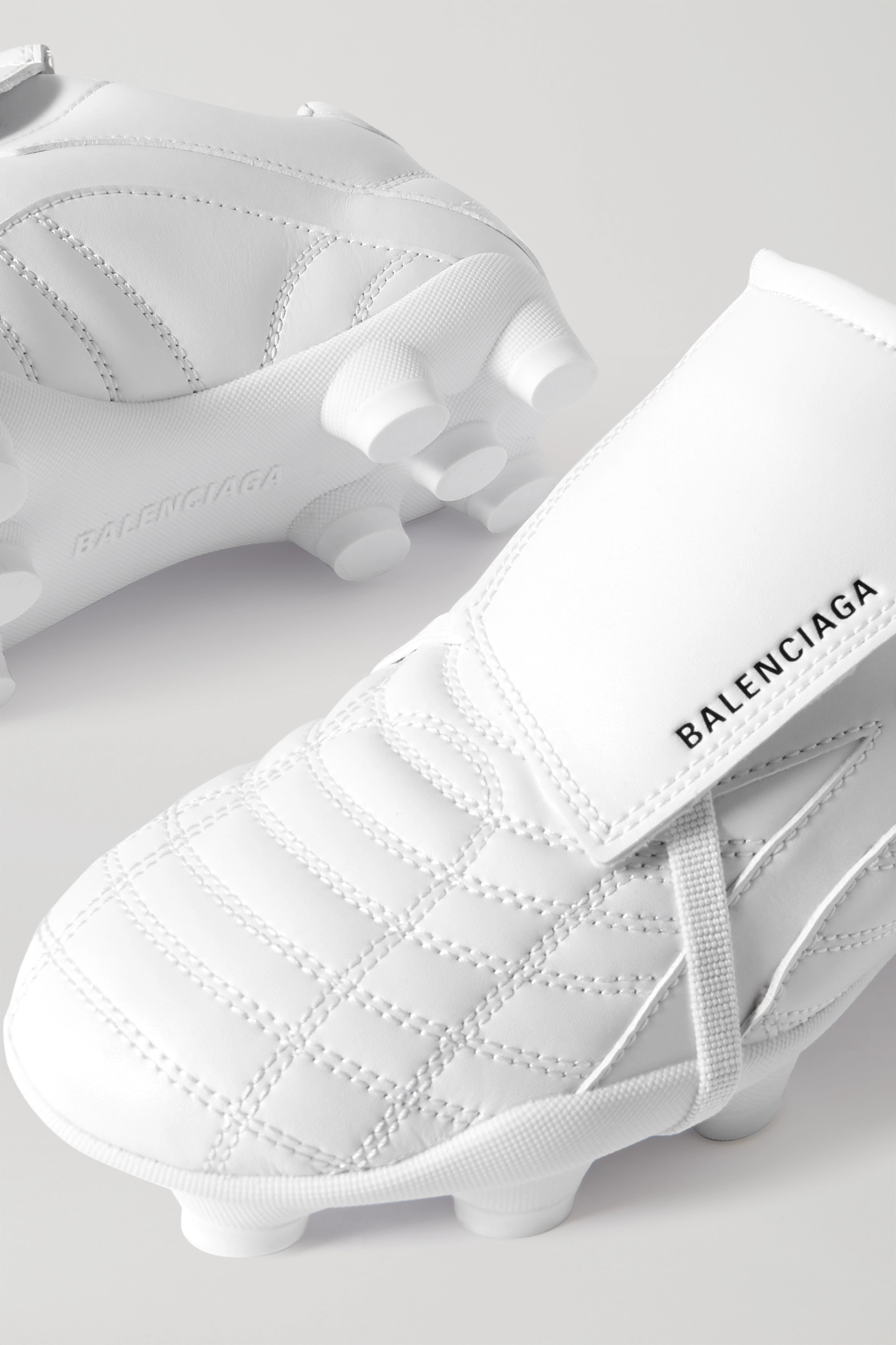 Balenciaga Soccer quilted faux leather sneakers