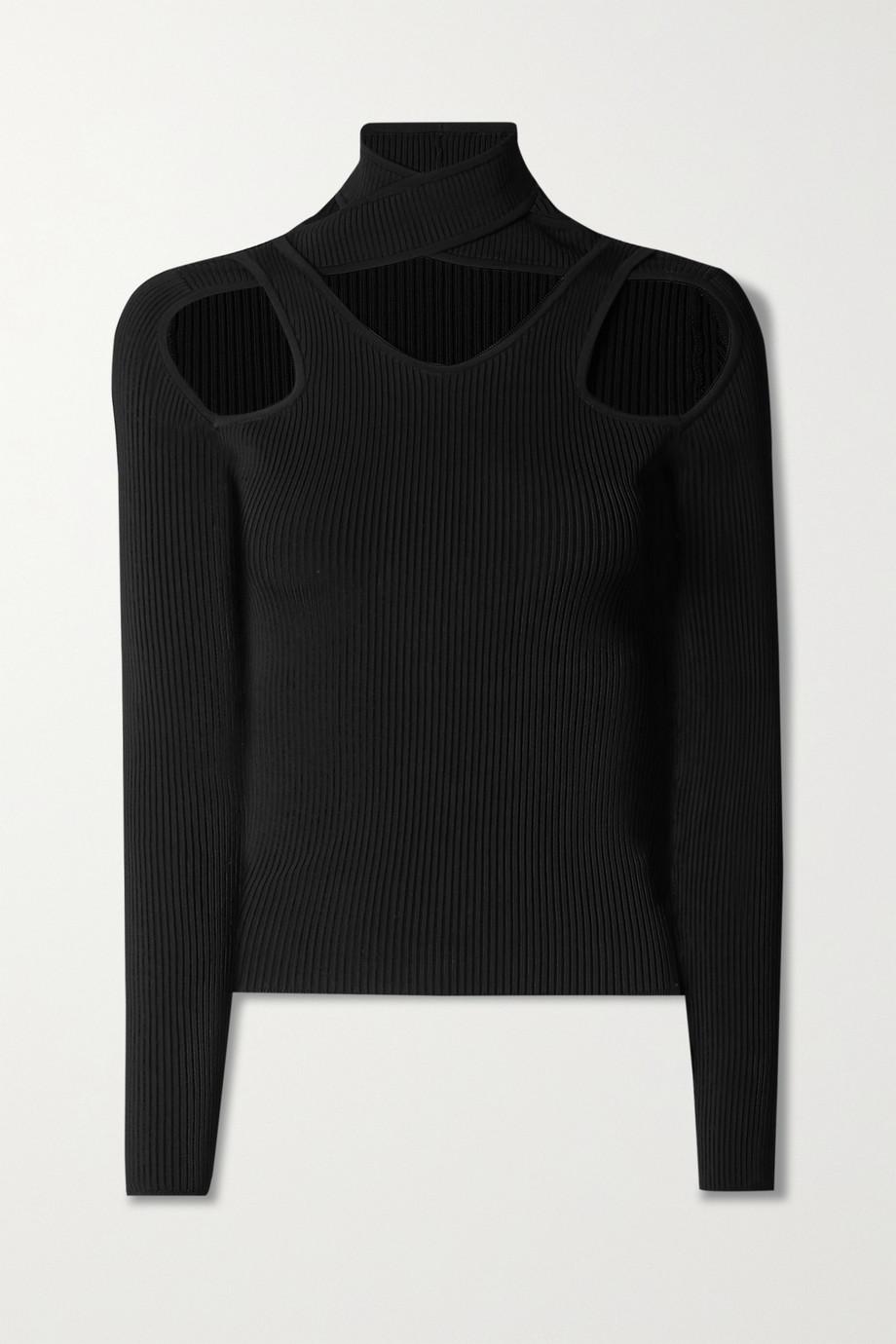 Coperni Cutout ribbed-knit top