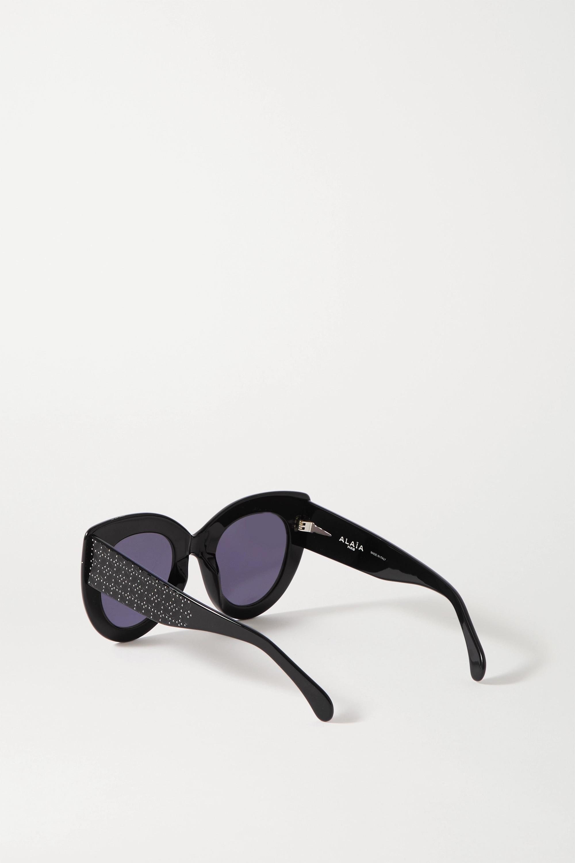 Alaïa Cat-Eye-Sonnenbrille aus Azetat mit Prägungen und Nieten