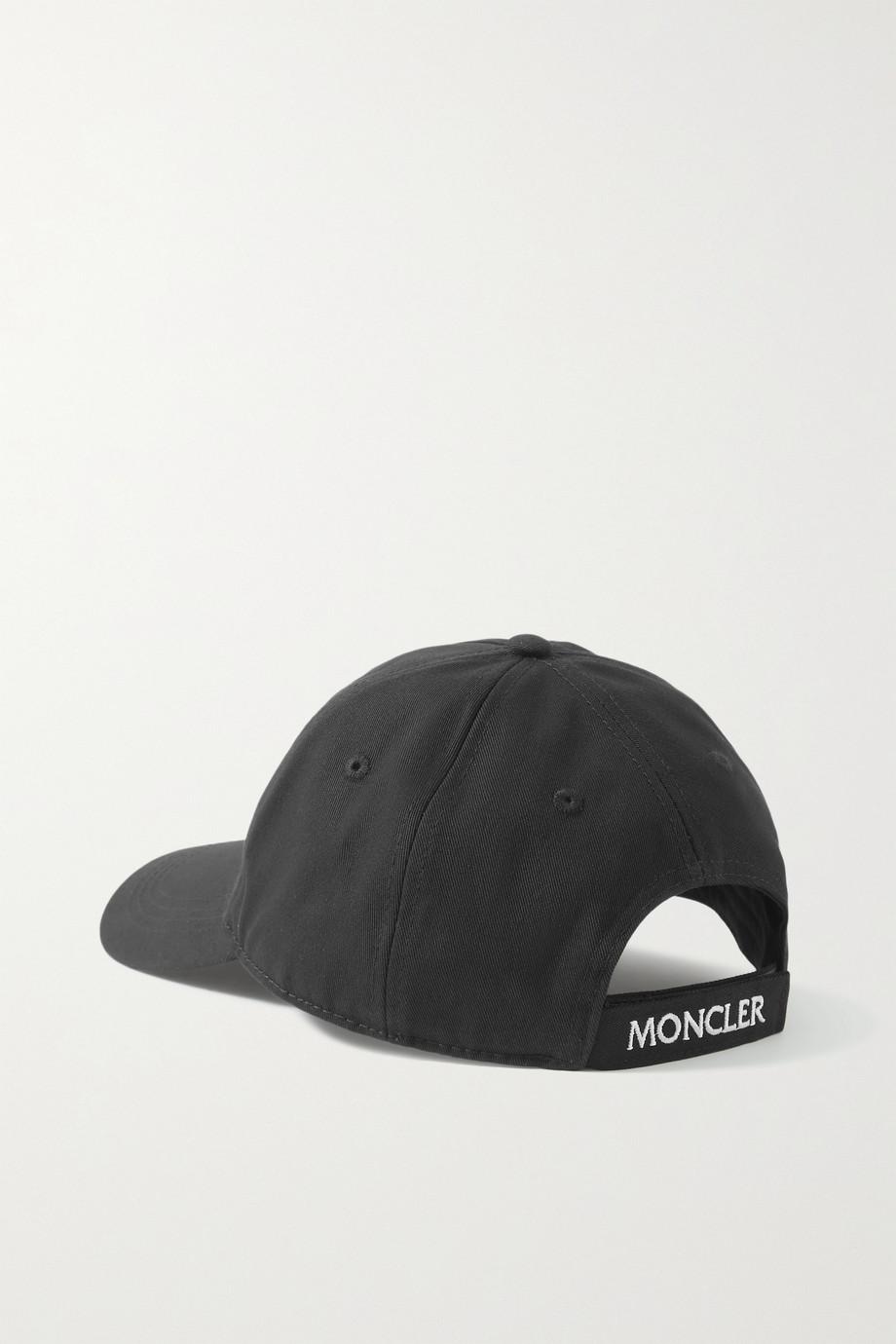 Moncler Appliquéd cotton-twill baseball cap