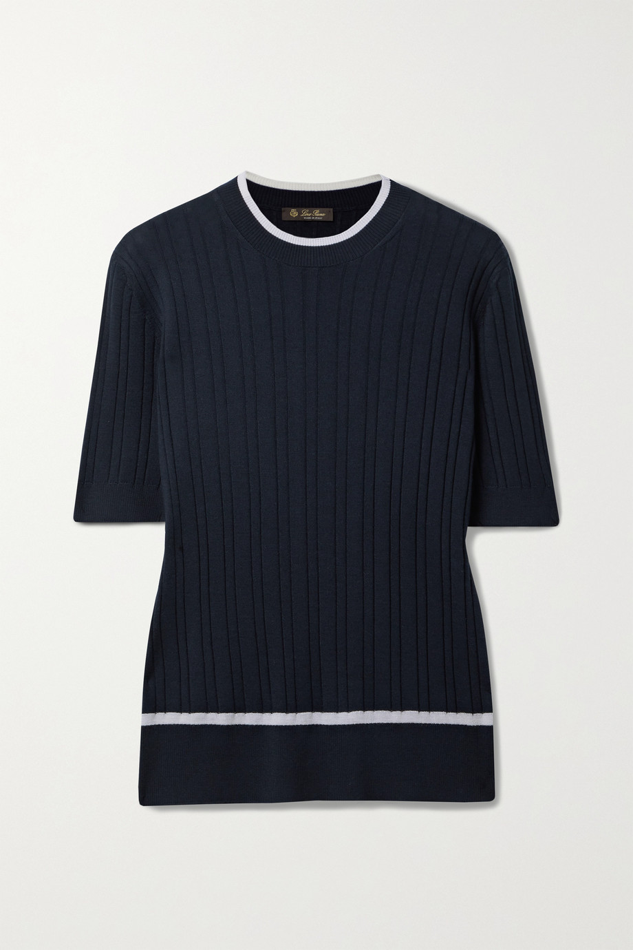 Loro Piana Benat ribbed cashmere and silk-blend top