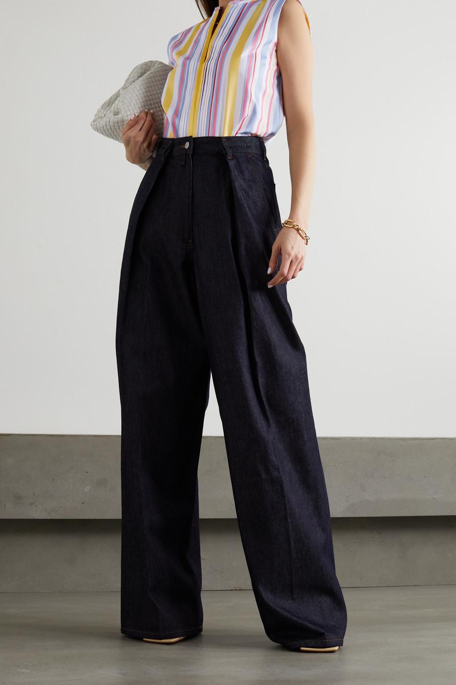 Loro Piana Vanessa striped cotton-twill blouse