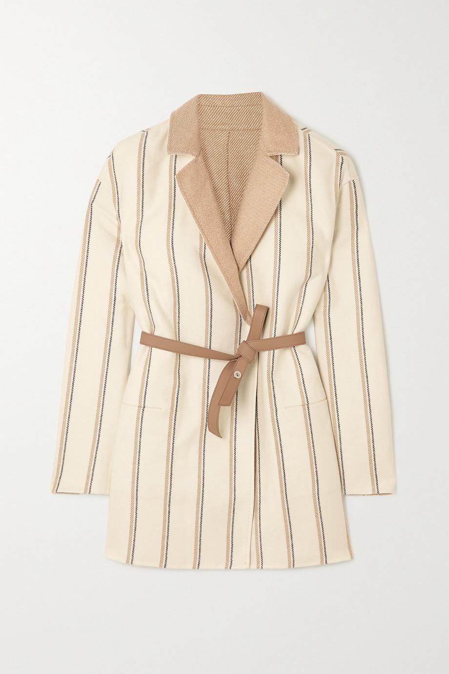 Loro Piana Jimi reversible belted striped cashmere jacket