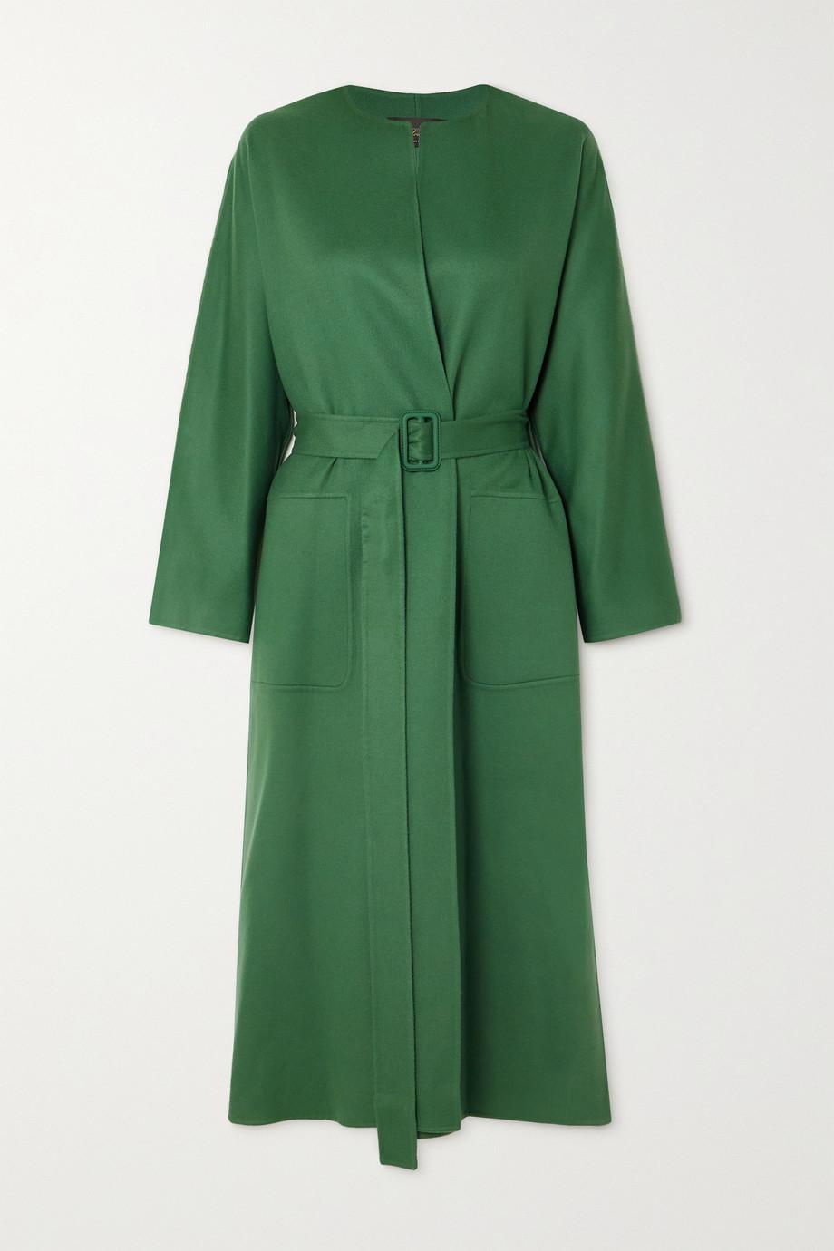 Loro Piana Emilien belted cashmere coat