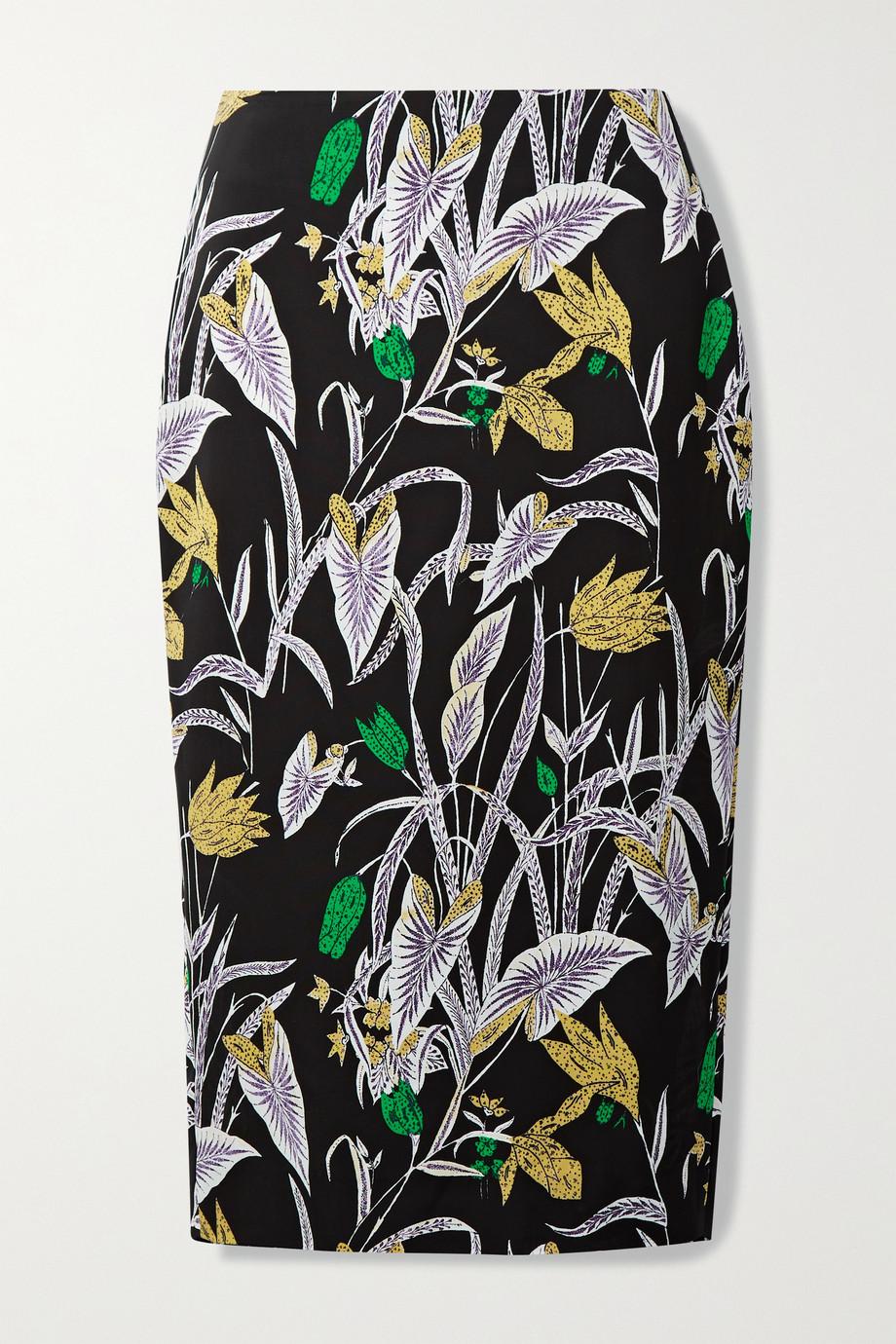 Diane von Furstenberg Kara printed crepe midi skirt