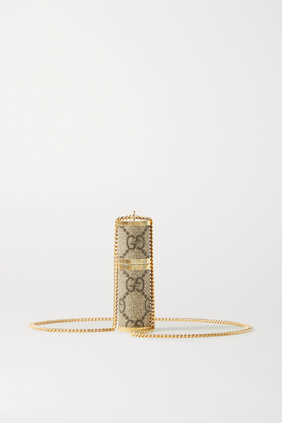 Gucci Gold-tone and coated-canvas atomizer