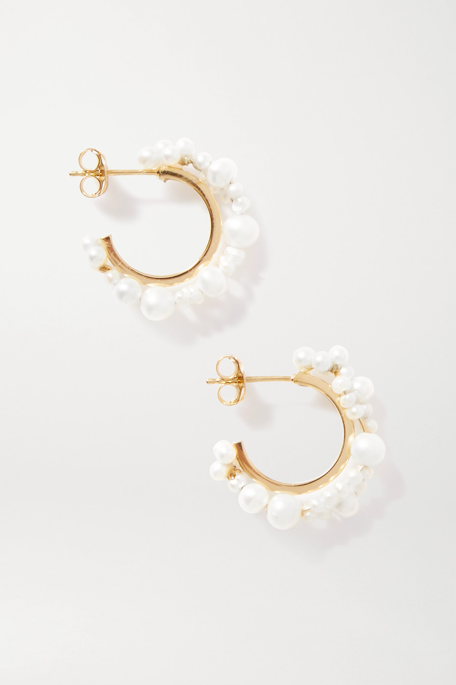 Completedworks Stratus gold vermeil pearl earrings