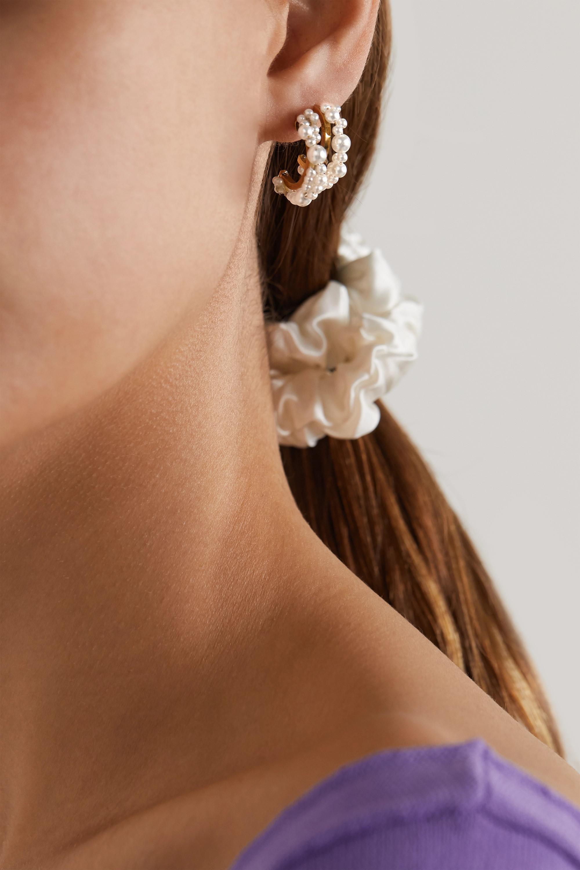 Completedworks Stratus gold vermeil pearl earrings