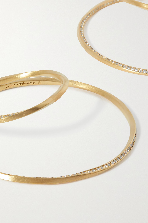 Completedworks Manifold gold vermeil topaz earrings
