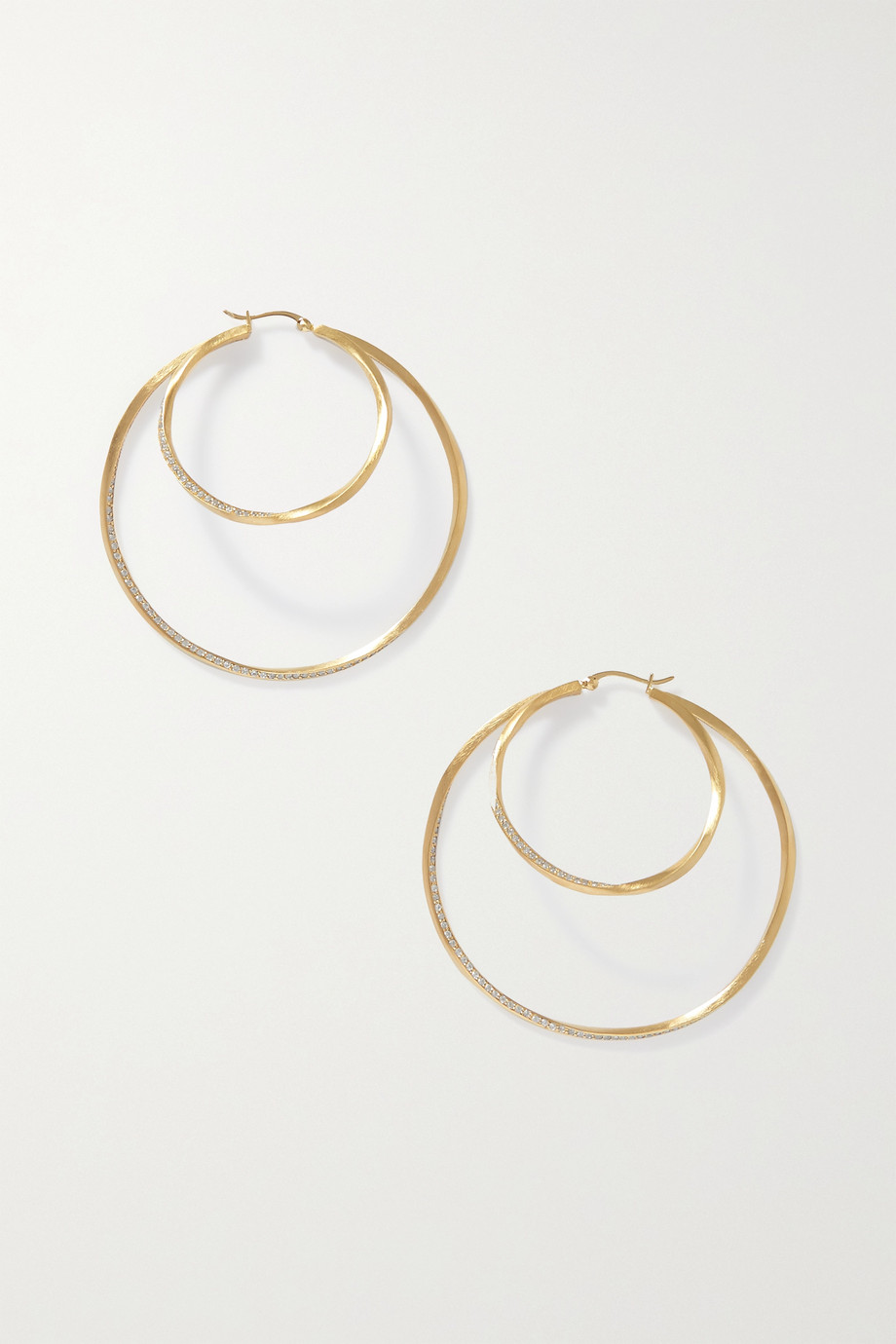 Completedworks Manifold gold vermeil topaz earrings